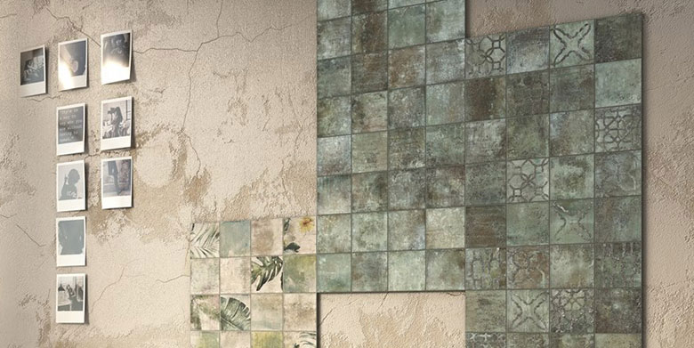 wall and floor tiles by decobella - amazonia ethnic emerald